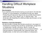 handling difficult workplace situations9