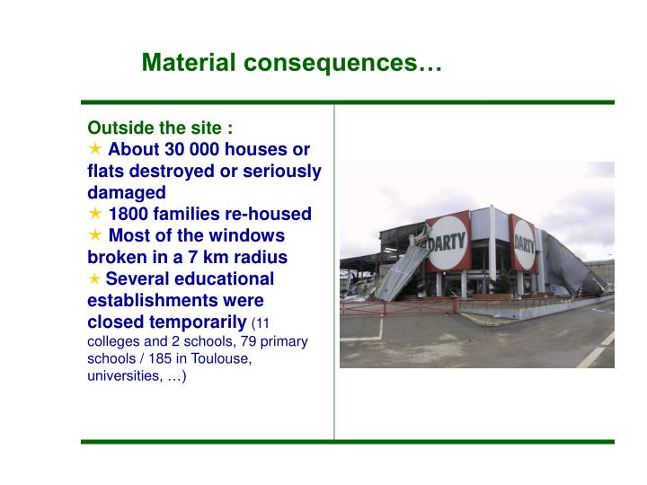 Material consequences…
