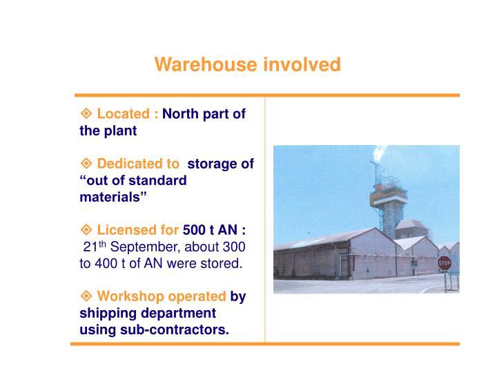 Warehouse involved