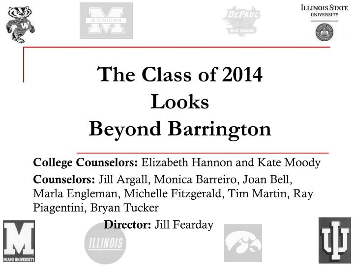 the class of 2014 looks beyond barrington n.