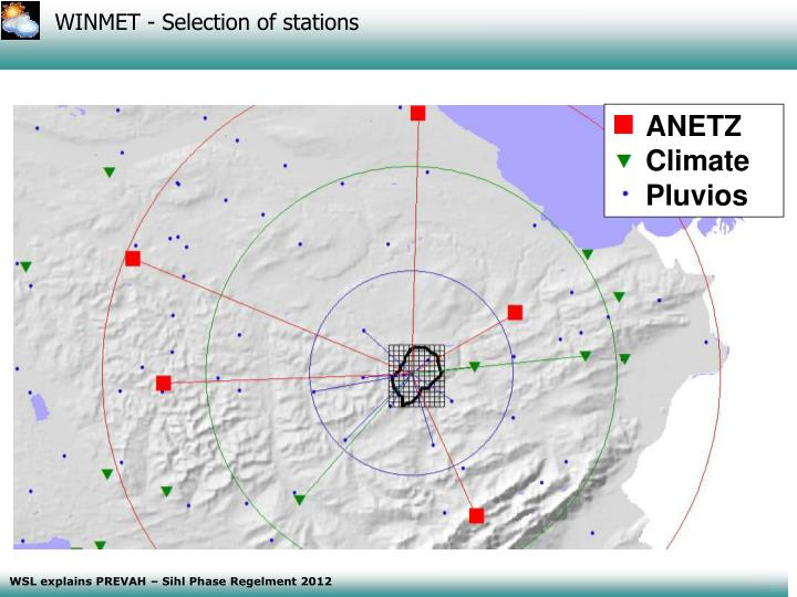 WINMET - Selection of stations