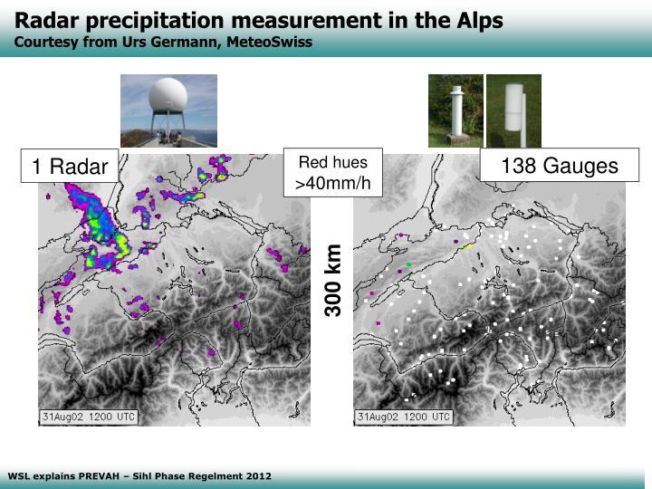 Radar precipitation measurement in the Alps
