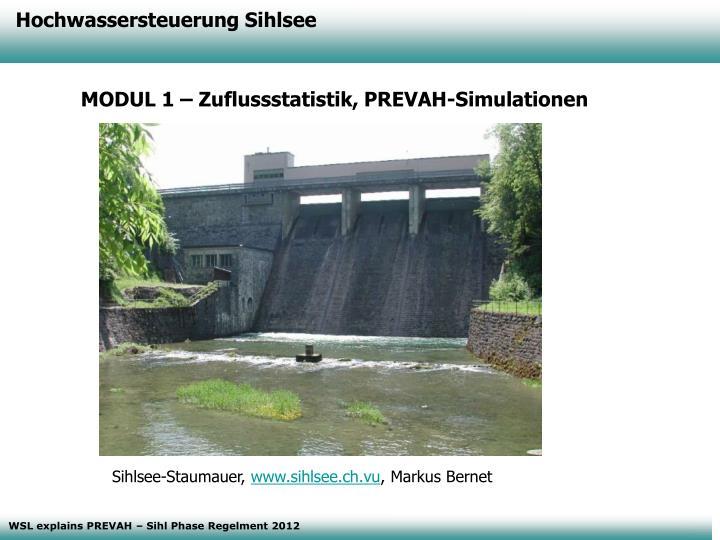 Hochwassersteuerung Sihlsee
