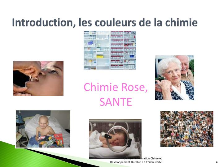 Introduction, les couleurs de la chimie