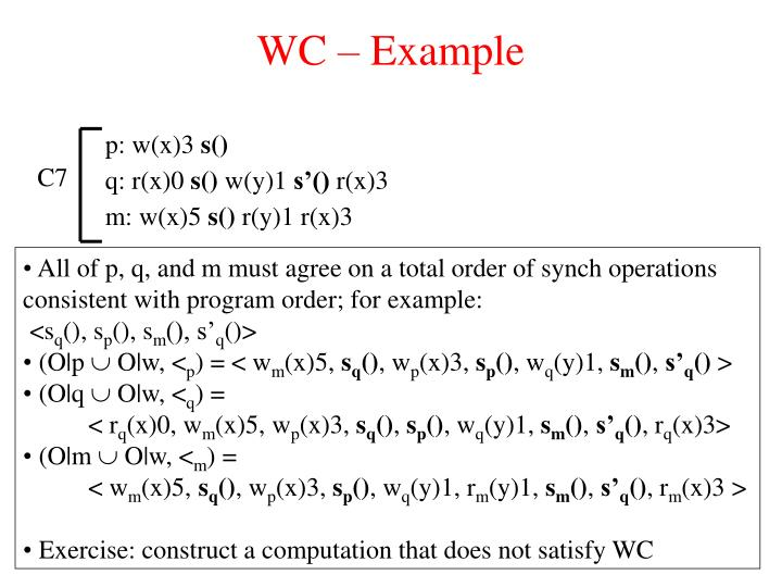 WC – Example