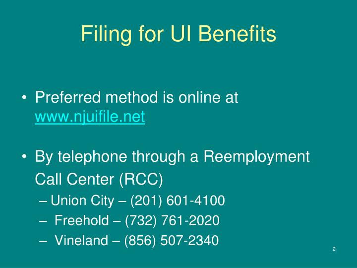 Filing for ui benefits