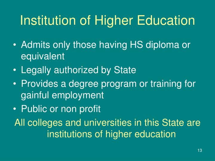 Institution of Higher Education