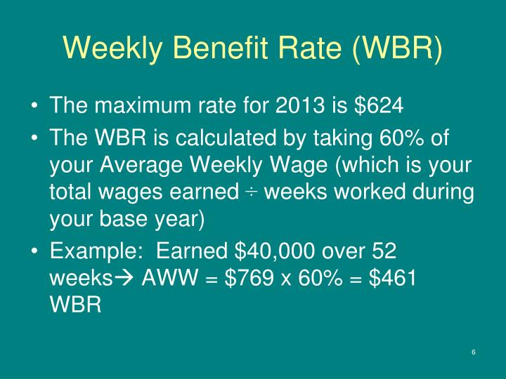 Weekly Benefit Rate (WBR)