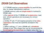 dram cell observations