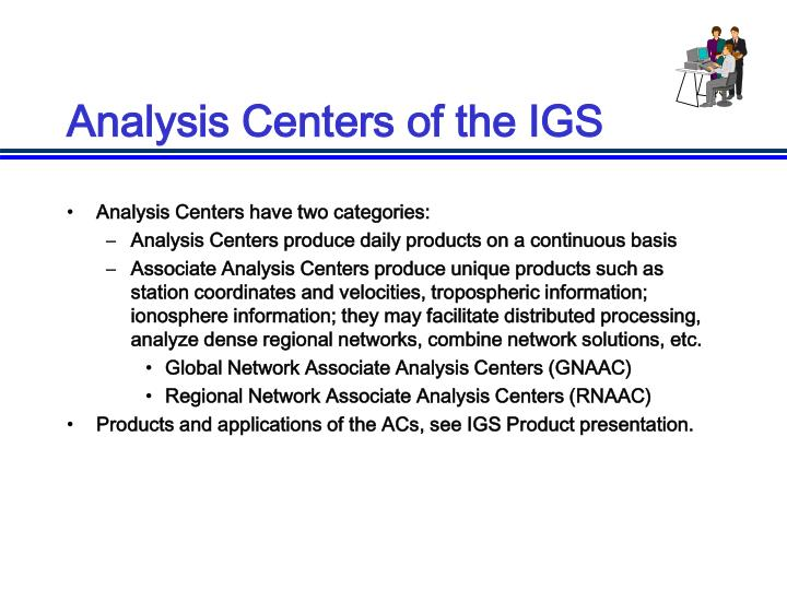 Analysis Centers of the IGS