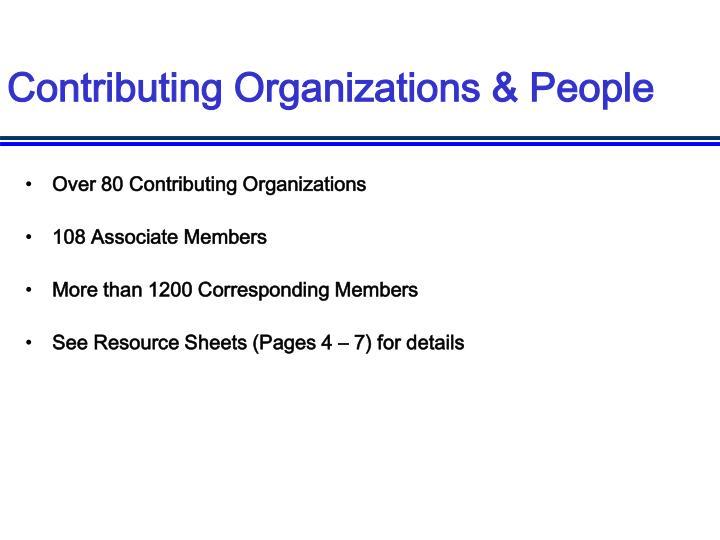 Contributing Organizations & People