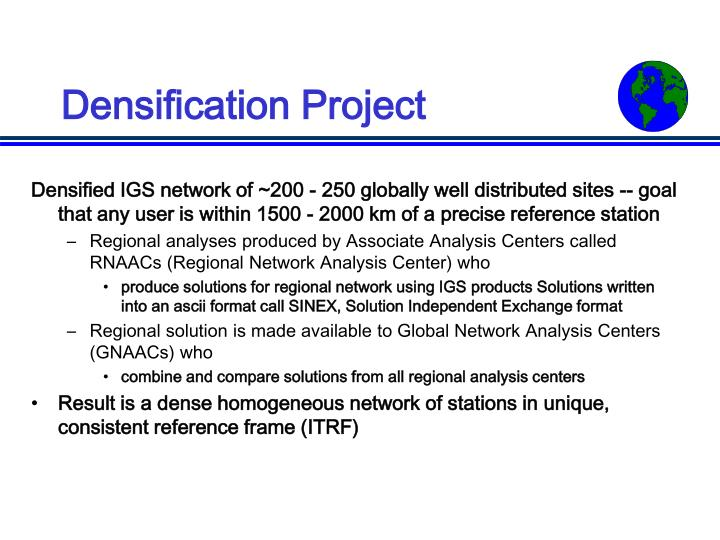 Densification Project