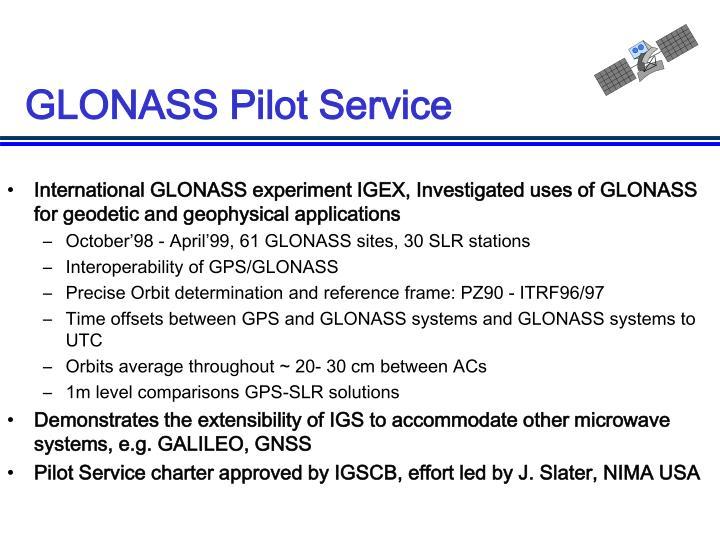 GLONASS Pilot Service