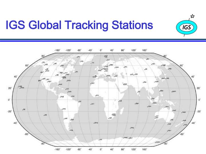 IGS Global Tracking Stations