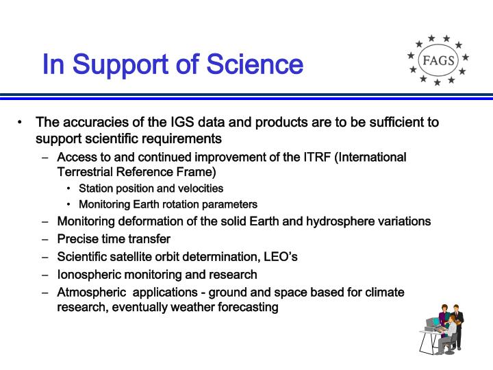 In support of science