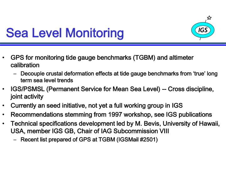 Sea Level Monitoring