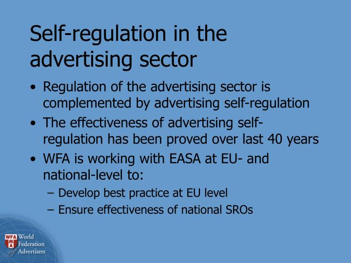 Self-regulation in the advertising sector