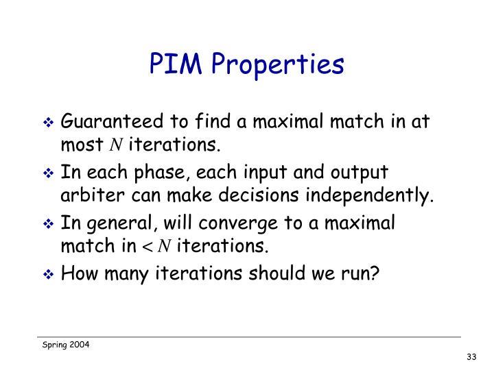 PIM Properties