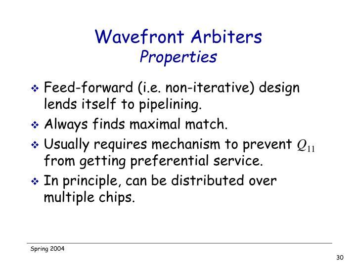 Wavefront Arbiters