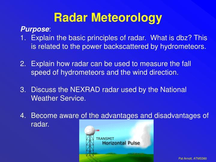 radar meteorology n.