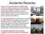 accidentes recientes