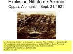 explosion nitrato de amonio oppau alemania sept 21 1921