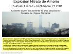 explosion nitrato de amonio toulouse france septiembre 21 2001