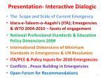 presentation interactive dialogic