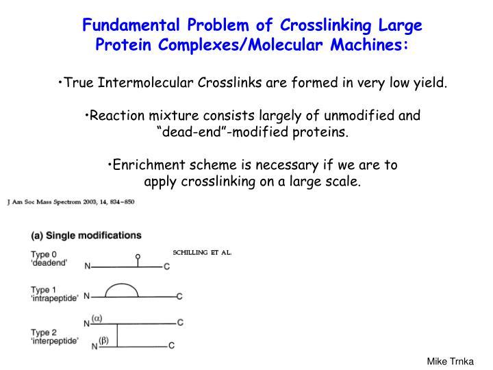 Fundamental Problem of Crosslinking Large