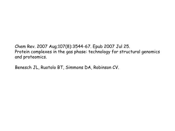 Chem Rev. 2007 Aug;107(8):3544-67. Epub 2007 Jul 25.