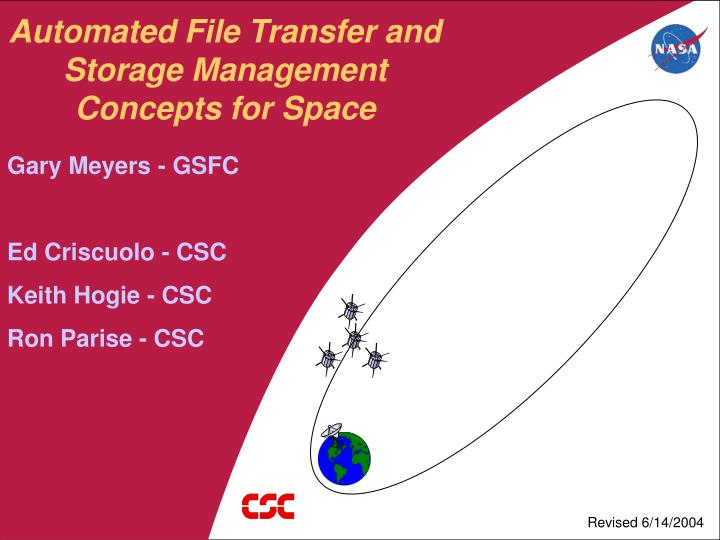 automated file transfer and storage management concepts for space n.