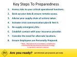 key steps to preparedness