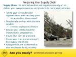 preparing your supply chain