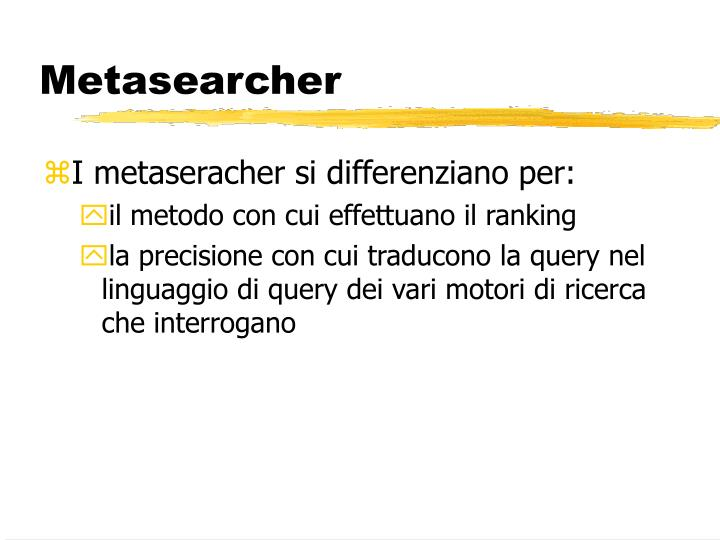 Metasearcher