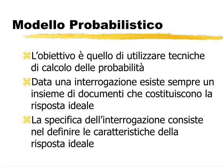 Modello Probabilistico