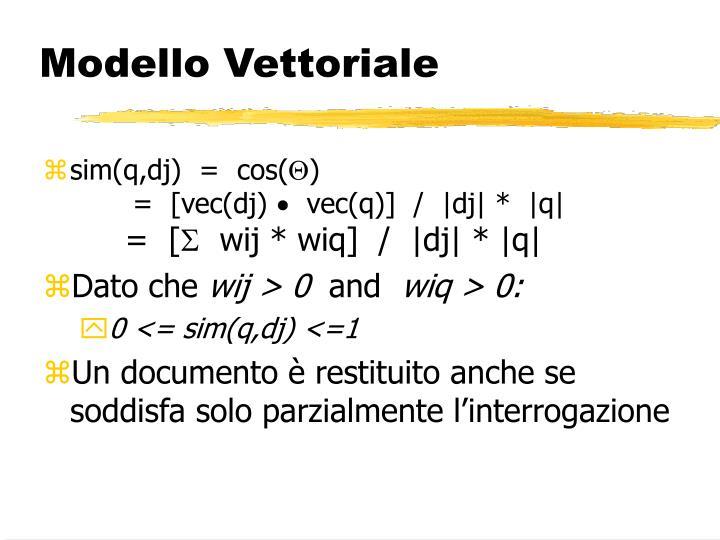 Modello Vettoriale