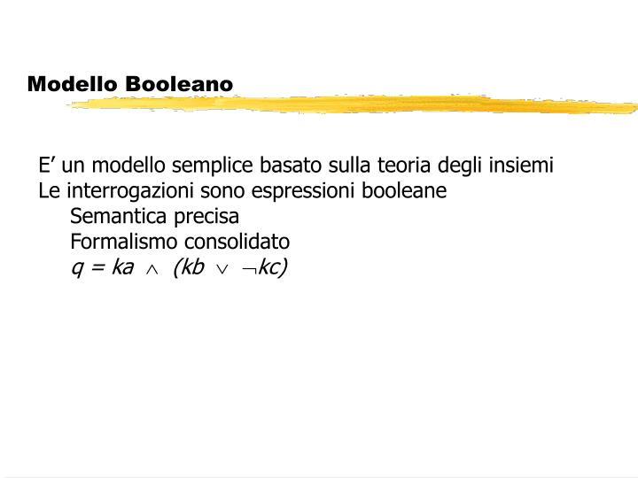 Modello Booleano