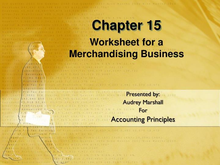 Worksheet for a merchandising business