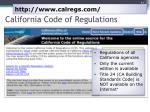 california code of regulations1
