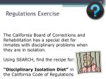 regulations exercise