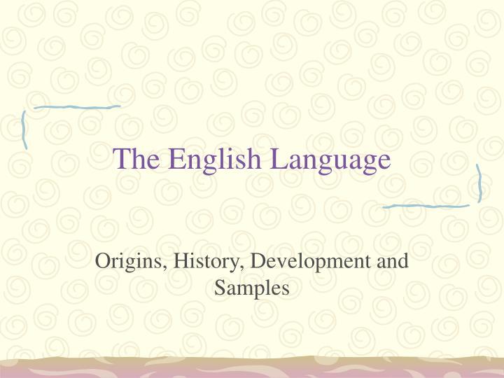 the english language n.
