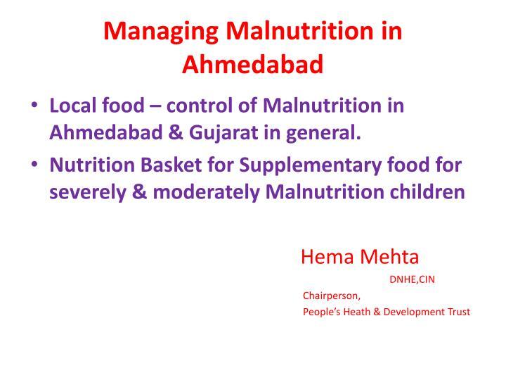 managing malnutrition in ahmedabad n.
