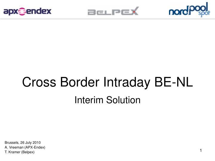 Cross border intraday be nl