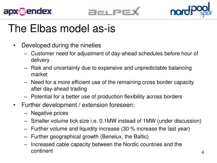 The Elbas model as-is