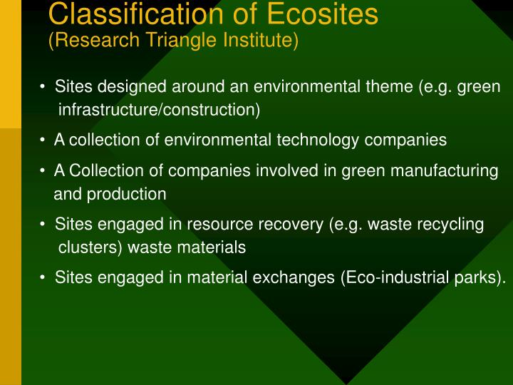 Classification of Ecosites