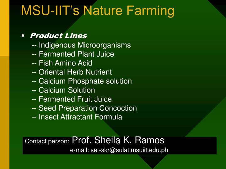MSU-IIT's Nature Farming