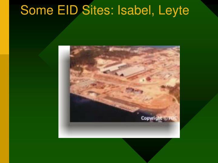 Some EID Sites: Isabel, Leyte