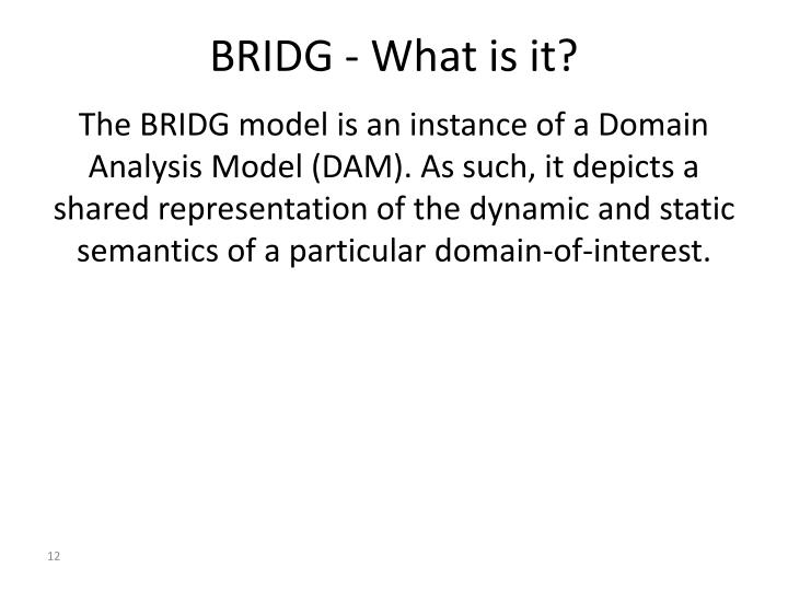BRIDG - What is it?