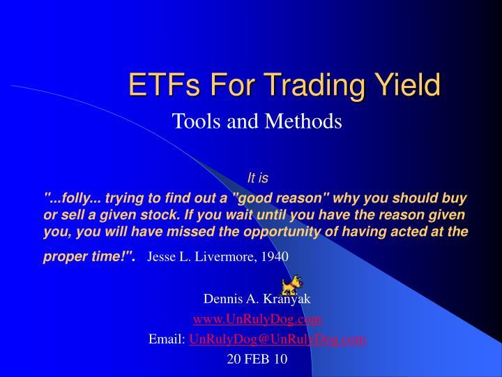 etfs for trading yield n.