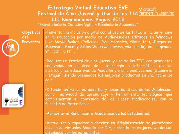 Estrategia Virtual Educativa EVE